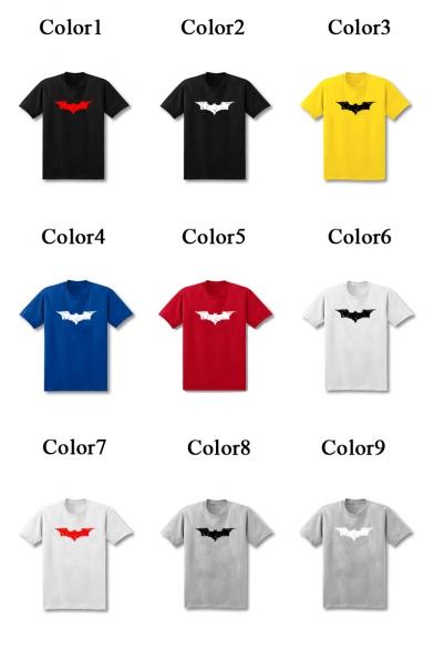 Round T Bat Neck Short Sleeve Shirt Printed XnwgHPqZ