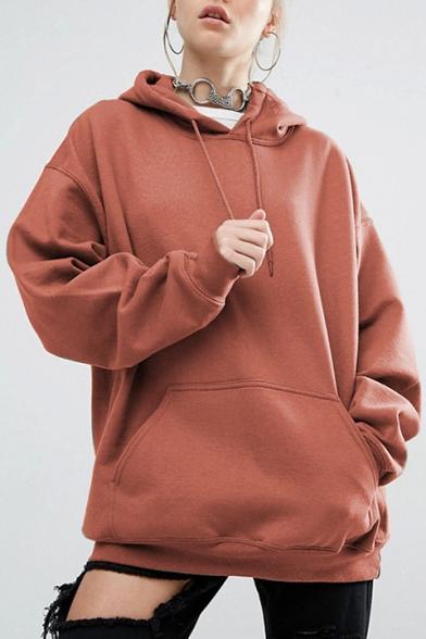 Oversized Long Sleeve Loose Plain Hoodie