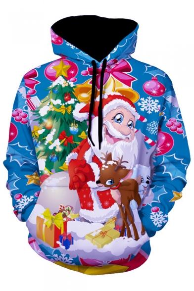 Sleeve Series Christmas Long Hoodie Casual Cartoon Printed qIB8p5w