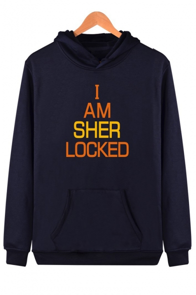 Hoodie Printed Letter SHER I Long AM Sleeve tOHwaxYn8q