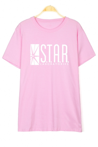 STAR Letter Graphic Printed Long Sleeve Leisure T-Shirt