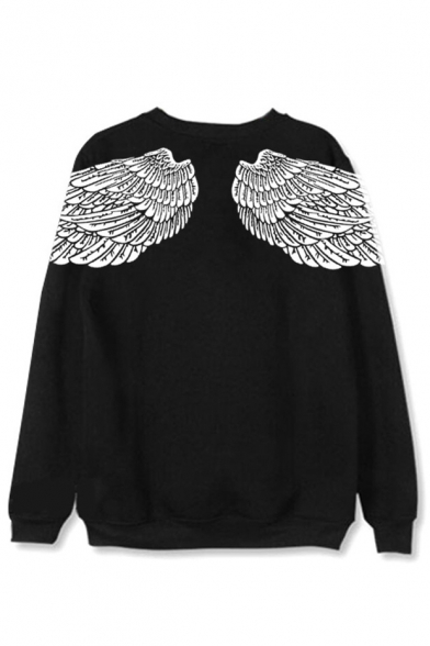 Long Star Printed Taehyung Wing Korean Kpop Sweatshirt Sleeve Round Neck BTS wRqx1HO8