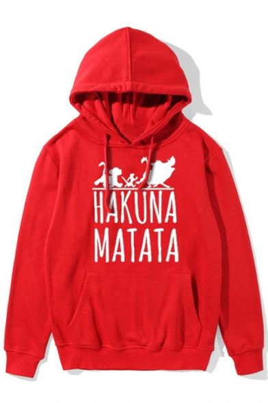 HAKUNA Hoodie Casual Letter Sleeve Printed Long Graphic zzYqr