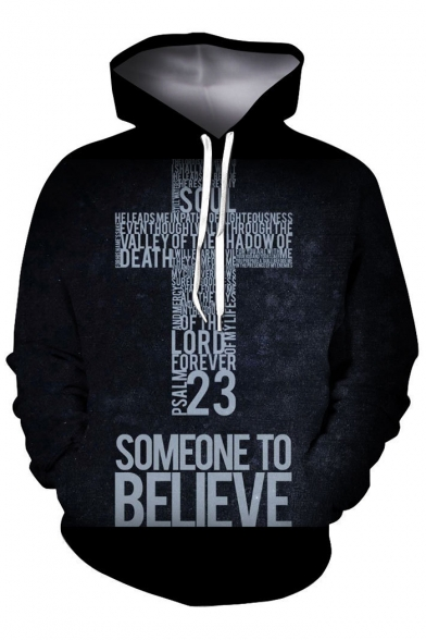 TO BELIEVE Sleeve Hoodie Letter Long SOMEONE Printed dR75S8qgwd