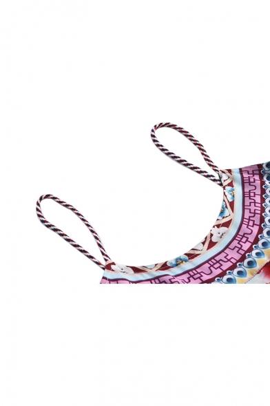 Dress Sleeveless Printed Cami Beach Maxi Floral Spaghetti Straps t0X8w