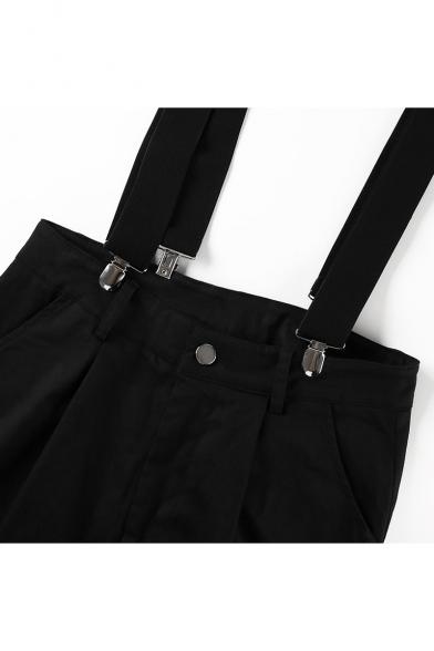 Cool High Waist Plain Leisure Overall Cargo Pants