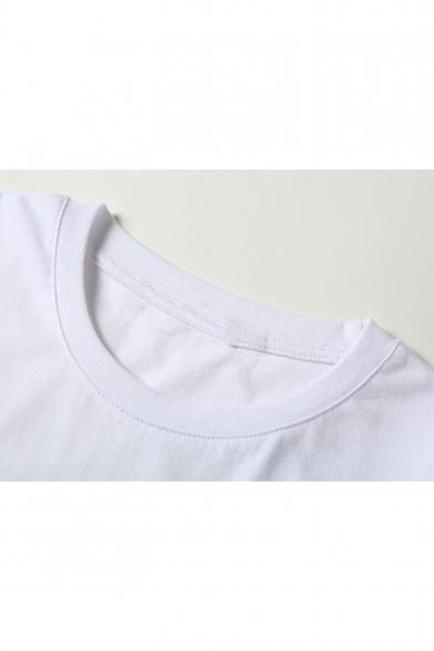 Short T Round Letter Shirt Neck Cute Printed Sleeve Boy UTWxA0n0X