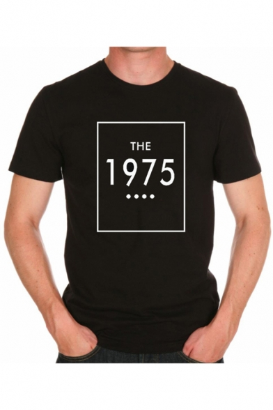 Купить со скидкой THE 1975 Letter Print Round Neck Long Sleeve Graphic Tee