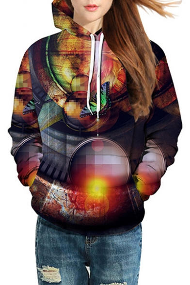 3D Butterfly Geometric Printed Long Sleeve Hoodie