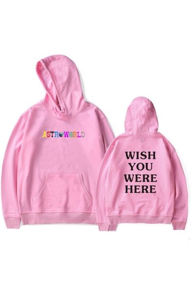New Arrival Letter Graphic Printed Long Sleeve Casual Hoodie