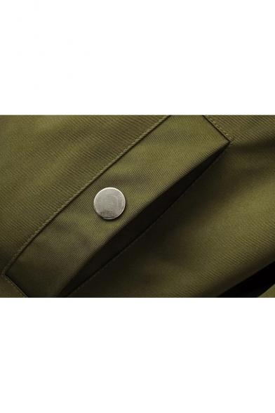 Basic Plain Long Sleeve Zip Up Stand Up Collar Long Sleeve MA-1 Bomber Jacket
