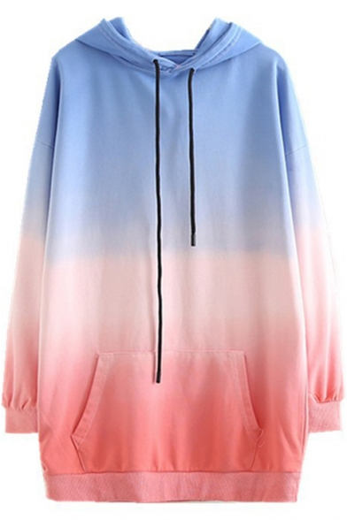 Fancy Ombre Long Sleeve Relaxed Hoodie