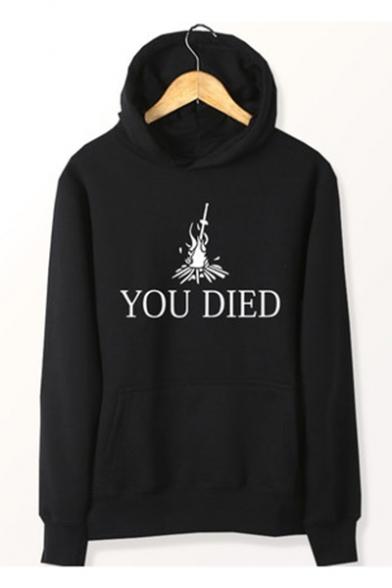 You Died Printed Hoodie