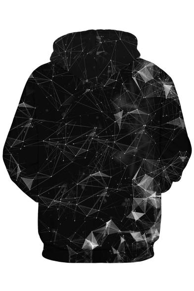 Casual 3D Geometric Long Sleeve Unisex Hoodie