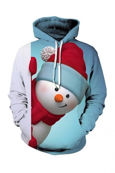Cute Cartoon Christmas Snowman Printed Regular Hoodie, LC489773