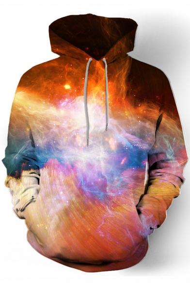 Fancy 3D Galaxy Print Long Sleeve Oversized Hoodie