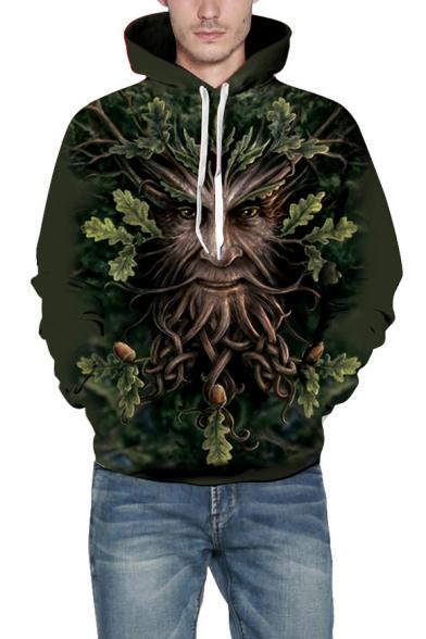 Baycheer / 3D Tree Monster Print Long Sleeve Unisex Hoodie