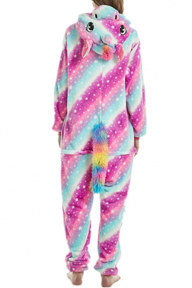 Pink And Blue Two Tone Galaxy Horse Cosplay Unisex Onesie Costume