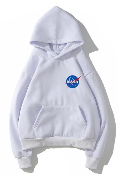 dac51eabb Unisex Chic Letter NASA Printed Long Sleeve Loose Fitted Hoodie for Juniors  ...