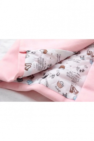 Funny Teapot Candle Holder Print Long Sleeve Button Down Woolen Coat