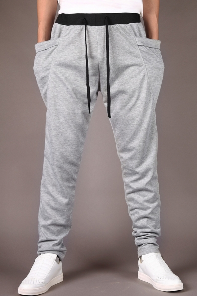 e11654718 Men's Casual Drawstring Waist Loose Fitted Jogger Pants with Pockets -  Beautifulhalo.com