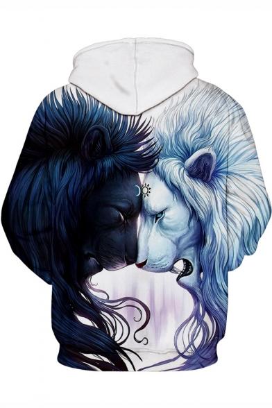 Unique 3D Lion Pattern Winter's Fashion Unisex Hoodie