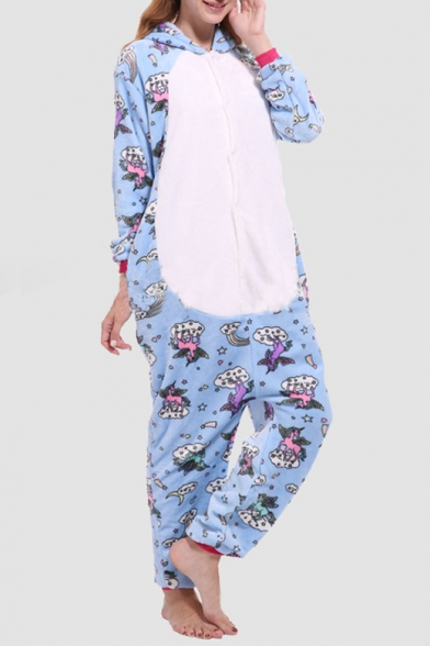 Fleece Unisex Carnival Cosplay Onesie Sleepwear Pajamas for Adult