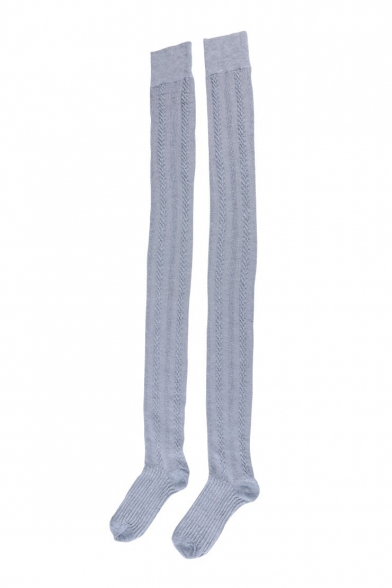 Girls' Lovely Fashion Rib Knitted Over Knee Stockings