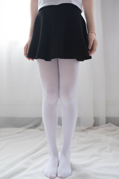 Girls Cute Pink Cherry Cat Claw Printed Cosplay White Tights