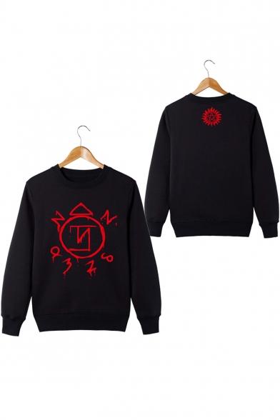 Hot Sale Supernatural Series Logo Printed Long Sleeve Round Neck Sweatshirt