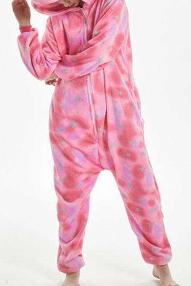 Trendy Pink Pegasus Cosplay Unisex Fleece Costume Onesie Sleepwear Pajamas