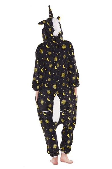 Unisex Fleece Star Printed Pegasus Cosplay Onesie Costume Pajamas