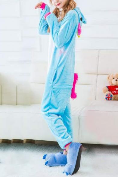 Trendy Unisex Fleece Pegasus Carnival Cosplay Costume Onesie Pajamas