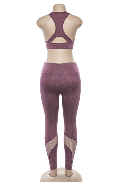 Hot Popular Cropped Tank Top Skinny Fit Pants Sports Yoga Outfit Co-ords