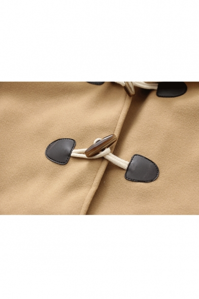 Winter's New Trendy Cartoon Cat Embroidered Pocket Hooded Long Sleeve Toggle Coat