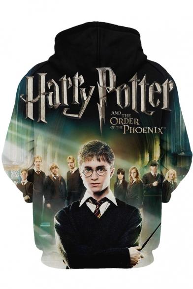 3D Harry Potter Movie Figure Printed Long Sleeve Casual Hoodie