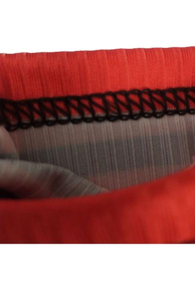 Stripes Eye Sequined Long Sleeve Round Neck Mini Bodycon Dress
