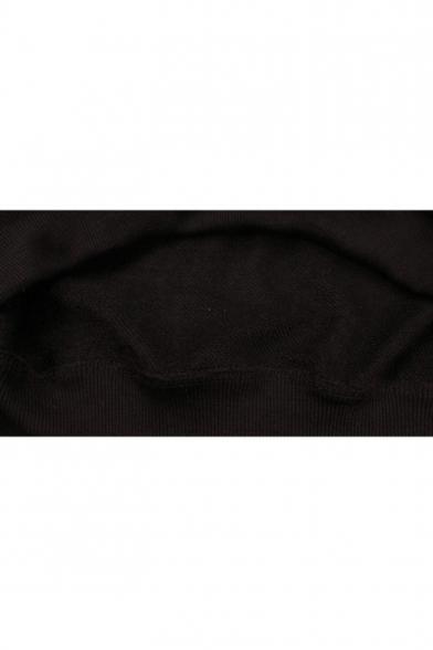 Comfortable Long Sleeve Black Letter PROMISE Printed Loose Hoodie