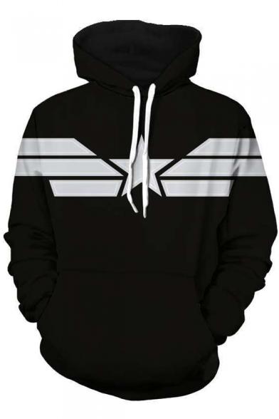 Black Colorblock Long Sleeve Sports Hoodie