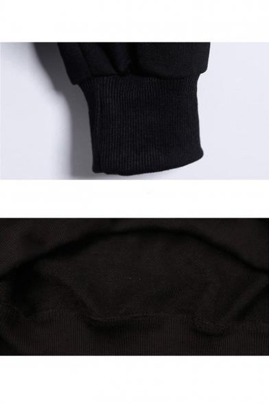 Leisure Long Sleeve Letter TRAVIS SCOTT Pattern Black Hoodie