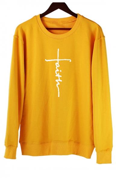 Fashion Hot Sale Long Sleeve Round Neck Pattern Loose Sweatshirt, Pink;yellow, LC494556