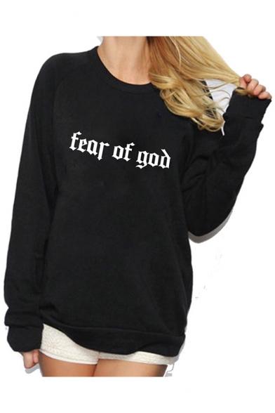 New Fashion Letter TEAR OF GOD Printed Round Neck Long Sleeve Comfort Sweatshirt