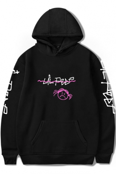 Street Style Letter LIL PEEP Printed Long Sleeve Casual Relaxed Hoodie