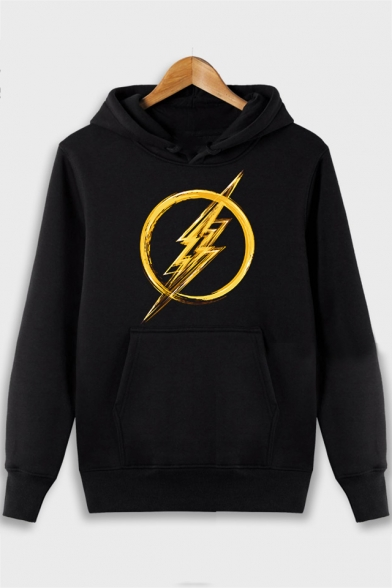 The Flash Printed Long Sleeve Leisure Thick Hoodie