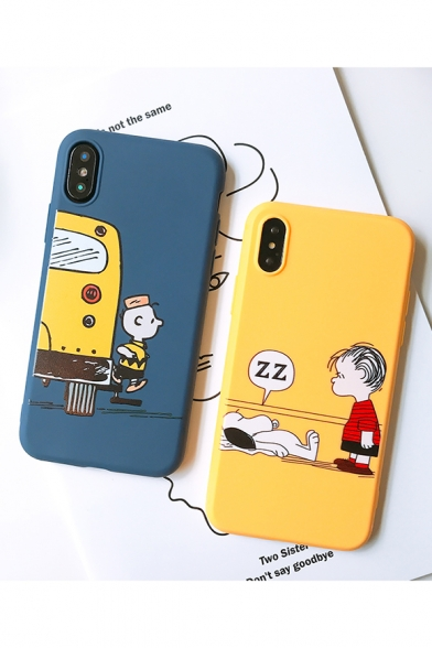 Lovely Cartoon Figure Pattern Fashion Soft iPhone Case