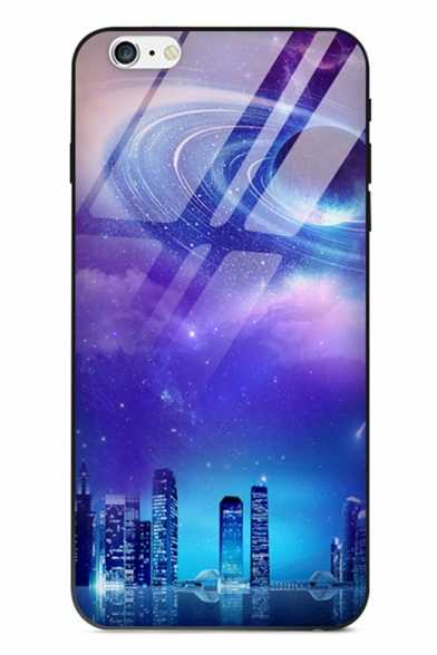 best cheap 98a3b 14877 Cool Stylish Galaxy Planet Print Glass Mobile Phone Case for iPhone
