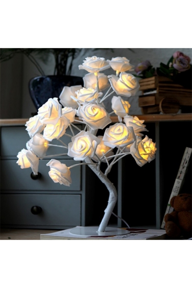 Girls Lovely Fashion Rose Ornament String Light Night Lamp for Gift