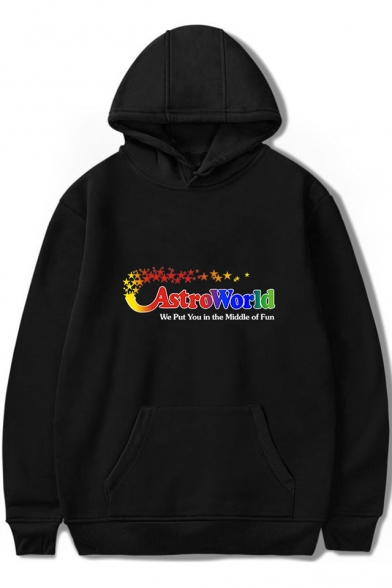 New Stylish Fashion ASTROWORLD Letter Long Sleeve Loose Fitted Hoodie for Men