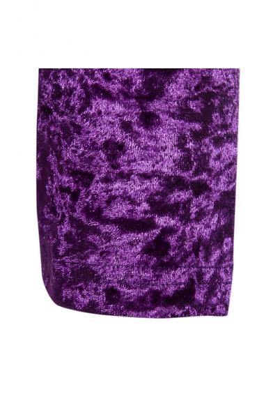 Men's Winter New Trendy High Neck Long Sleeve Plain Velvet Fitted Sweatshirt