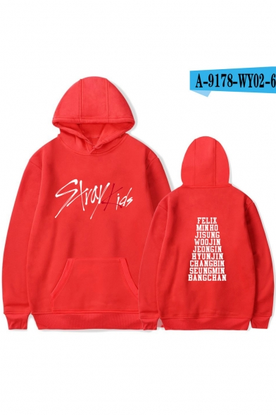 New Arrival Trendy Boy Band Letter Print Long Sleeve Relaxed Fit Hoodie for Guys